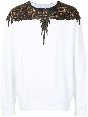 T-shirt z printem - biała Marcelo Burlon County Of Milan