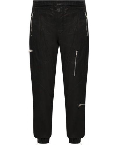 Брюки с карманами кожаный Givenchy