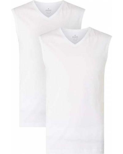 Bawełna bawełna biały top z dekoltem Ragman