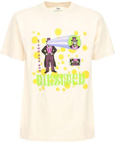 Biały t-shirt bawełniany z printem Kidsuper Studios