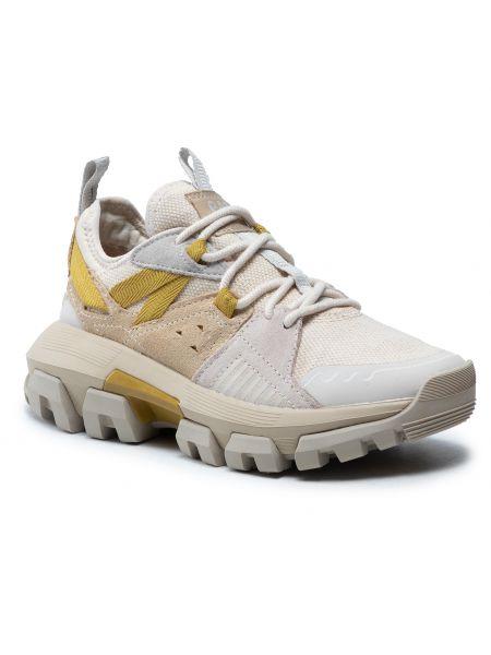 Buty sportowe skorzane - beżowe Caterpillar