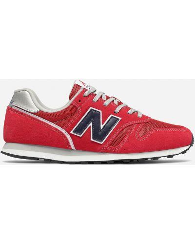Красные высокие кроссовки New Balance