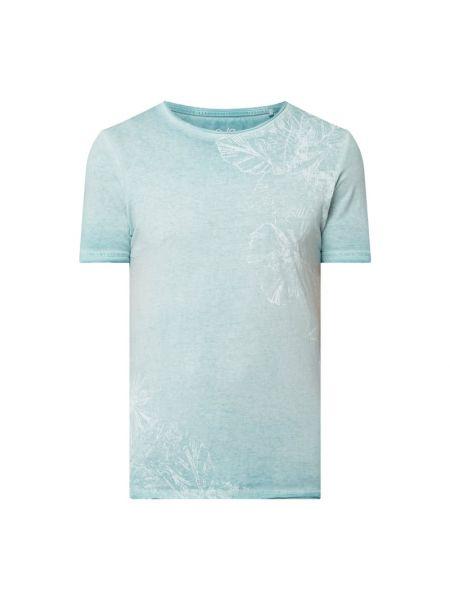 T-shirt z printem - niebieska Q/s Designed By