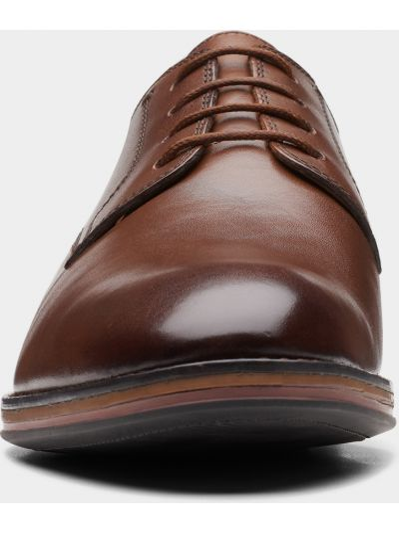 Кожаные лоферы - коричневые Clarks