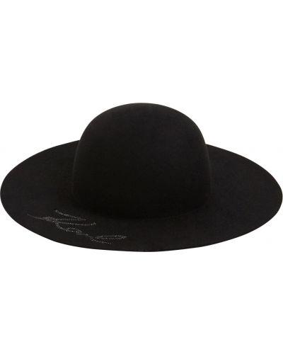 Bezpłatne cięcie czarny wełniany kapelusz bezpłatne cięcie Karl Lagerfeld