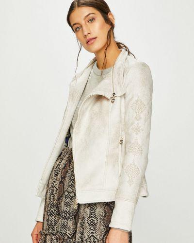 Кожаная куртка с карманами утепленная Desigual