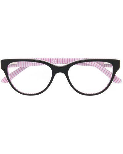 Черные очки в полоску Polo Ralph Lauren