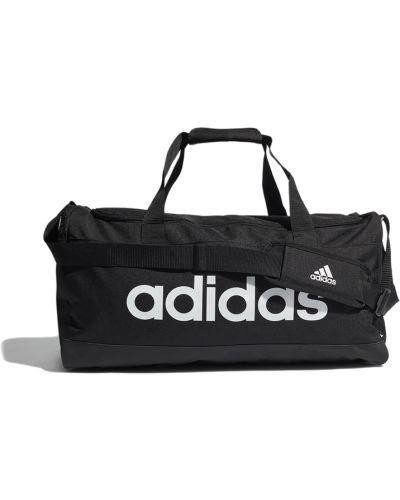 Czarna torba sportowa materiałowa Adidas