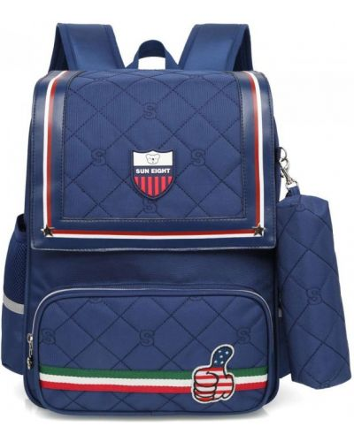 Мягкий школьный рюкзак для ноутбука с вышивкой Sun Eight