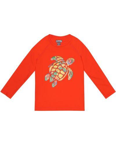 Текстильный оранжевый рашгард стрейч Vilebrequin Kids