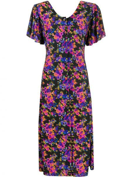 Платье миди на пуговицах с цветочным принтом Vetements