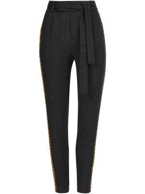 Шерстяные брюки - серые Zoe Karssen