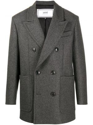 Ciepły płaszcz wełniany Ami