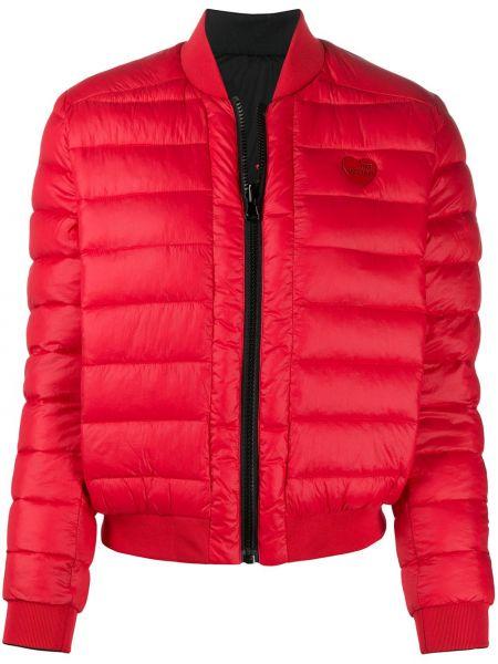 Z rękawami długa kurtka z kieszeniami z łatami Love Moschino