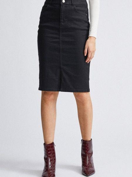 Джинсовая юбка черная весенняя Dorothy Perkins