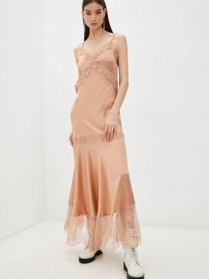 Платье-комбинация - розовое Twinset Milano