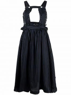 Сарафан в полоску - черное Comme Des Garçons Noir Kei Ninomiya