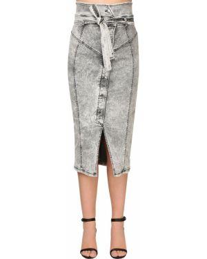 Юбка карандаш джинсовая с завышенной талией Marina Rinaldi