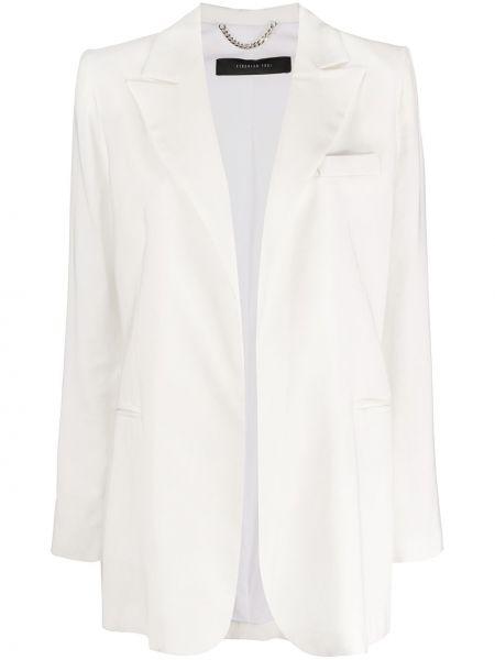 Белый пиджак с карманами свободного кроя Federica Tosi