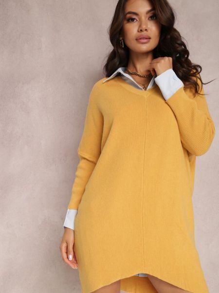 Tunika oversize - żółta Renee