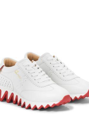 Кожаные белые кроссовки Christian Louboutin