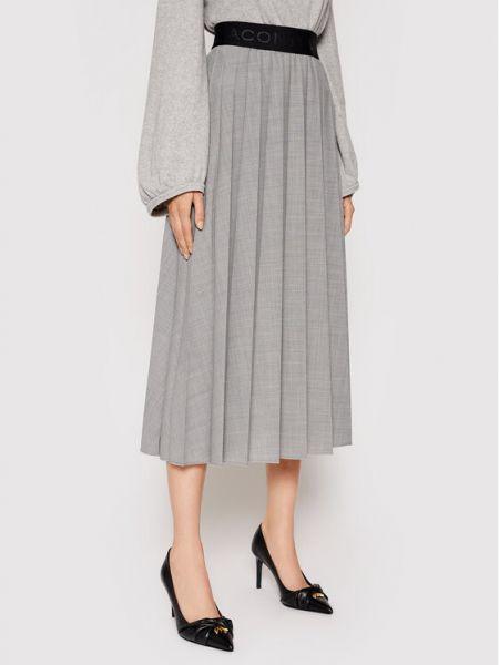 Szara spódnica plisowana Liviana Conti