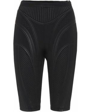 Компрессионные черные шорты Mugler