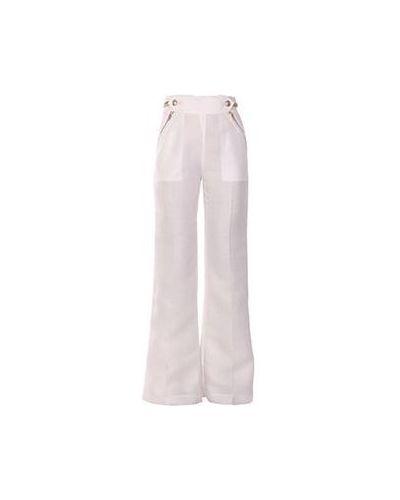 Летние брюки белые в морском стиле Ports 1961