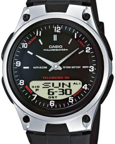 Часы водонепроницаемые с подсветкой черный Casio