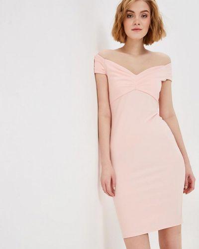 Вечернее платье осеннее розовое City Goddess