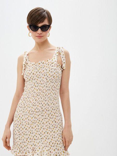 Платье прямое бежевое Free People
