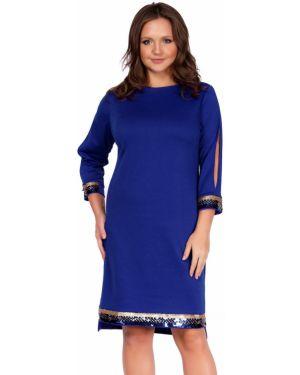 Платье с пайетками - синее Liza Fashion