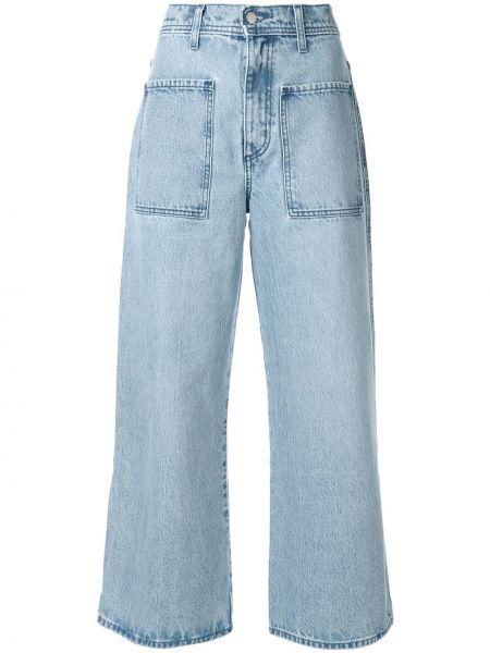 Широкие джинсы укороченные mom Nobody Denim