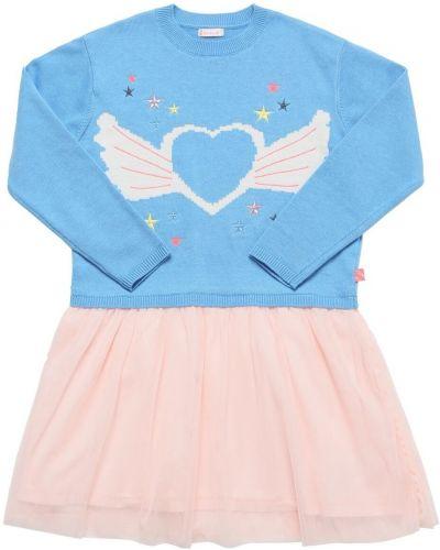 Платье из фатина - голубое Billieblush