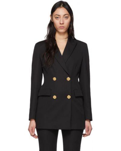 Пиджак черный в полоску Versace