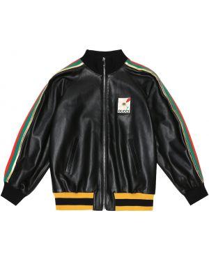 Черная куртка Gucci Kids