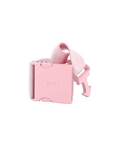 Розовый ремень из вискозы с поясом No.21