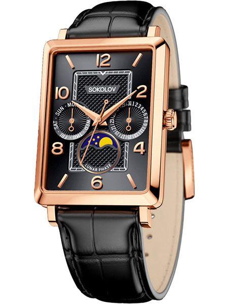 Часы с кожаным ремешком Sokolov