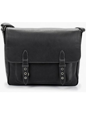 Черная весенняя сумка Duffy