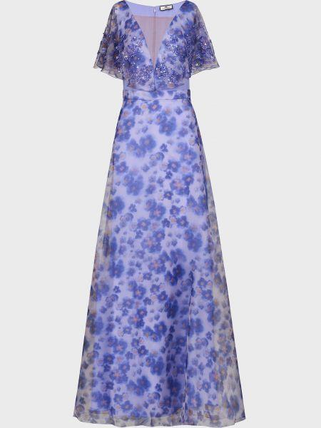Платье с пайетками - фиолетовое Elisabetta Franchi
