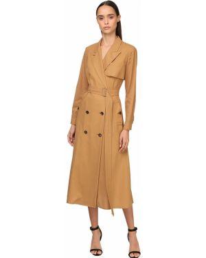 Платье с поясом на пуговицах восточное Max Mara
