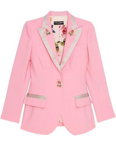 Розовый жакет Dolce&gabbana