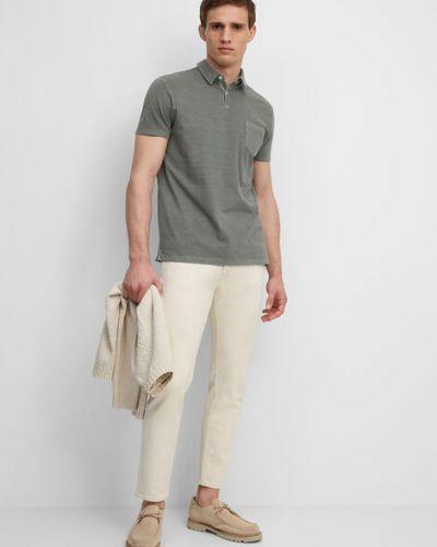 Zielony t-shirt w paski bawełniany Marc O Polo