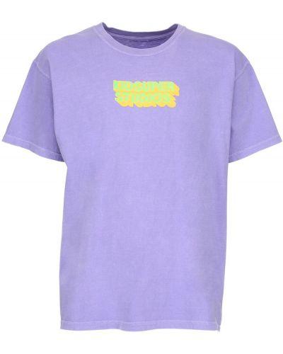 Fioletowy t-shirt bawełniany Kidsuper Studios
