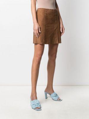 Прямая с завышенной талией кожаная юбка мини Arma