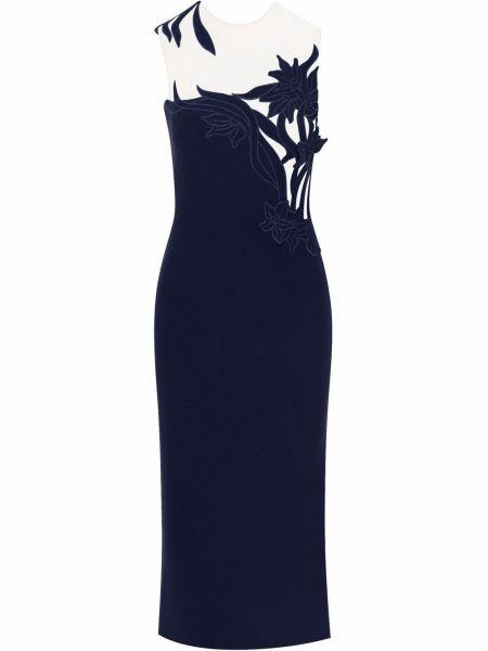 Шерстяное платье - черное Oscar De La Renta
