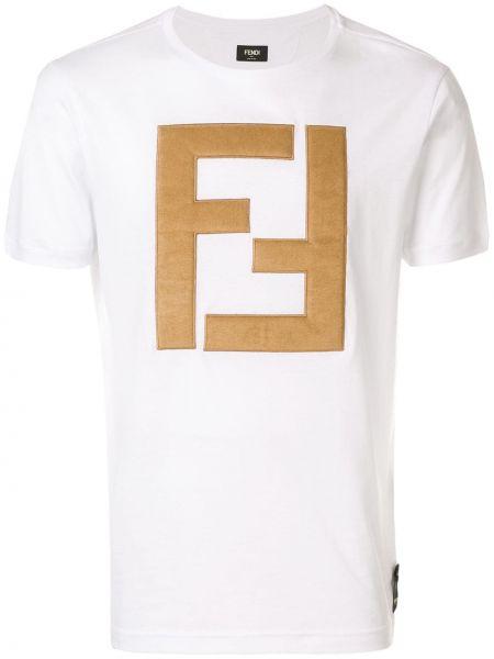 Koszula krótkie z krótkim rękawem klasyczna z logo Fendi