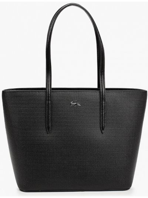 Черная кожаная сумка Lacoste