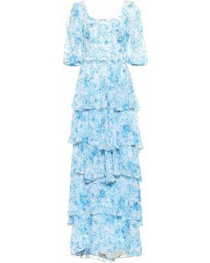 Платье с цветочным принтом шифоновое Costarellos