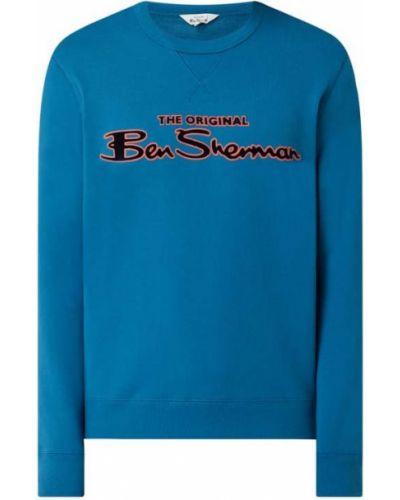 Bluza bawełniana turkusowa z printem Ben Sherman